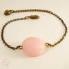 Bracelet femme pierre fine chaîne bronze
