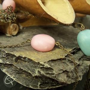 Bracelet pierre rose métal bronze