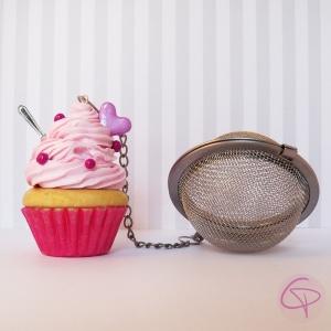 Boule à thé originale contrepoids infuseur à thé cupcake cœur rose