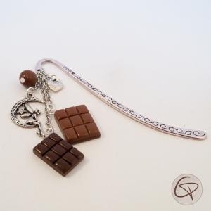 marque-page chocolat accessoire original de pause dans la lecture