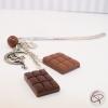 Signet tablettes chocolat bijou gourmand pour livre fait main