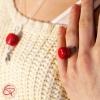 Cadeau original Bague macaron rouge bijou gourmand pour femme