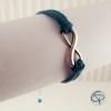 Bracelet infini et daim bleu fait main en France