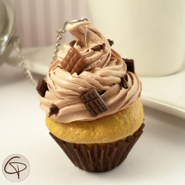 Boule à thé cupcake chocolat - accessoire à thé original