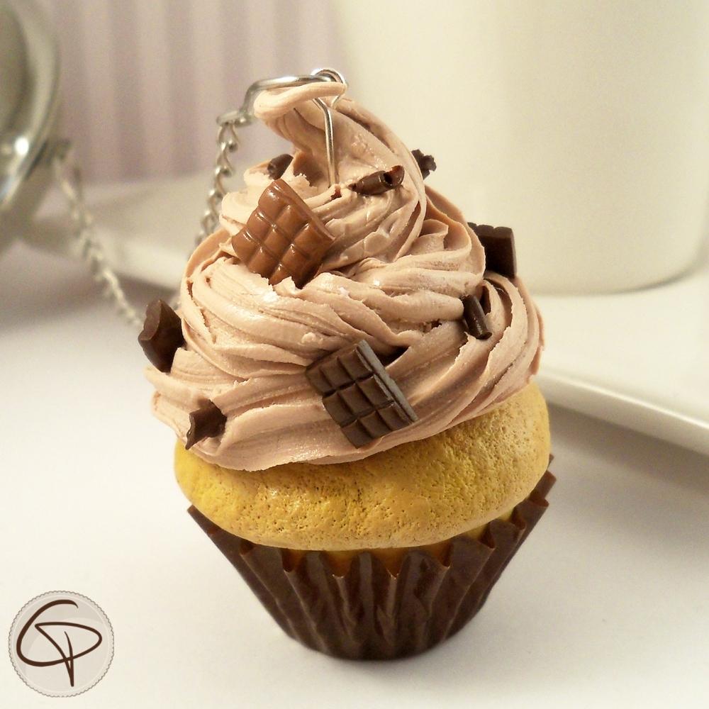 boule th originale contrepoids infuseur cupcake chocolat. Black Bedroom Furniture Sets. Home Design Ideas
