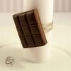 bague tablette de chocolat noir fourré bijou gourmand