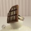 bague chocolat noir fourré croqué
