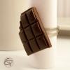 bague plaquette de chocolat noir fourré croqué bijou fantaisie femme