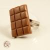 bague tablette de chocolat au lait bijou gourmand