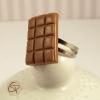 bague plaquette de chocolat au lait bijou fantaisie femme