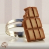 bague tablette de chocolat au lait croqué bijou gourmand