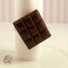 bague tablette de chocolat noir bijou gourmand