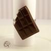 bague chocolat noir croqué