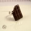 bague tablette de chocolat noir croqué bijou gourmand