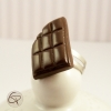 bague plaquette de chocolat noir croqué bijou fantaisie femme