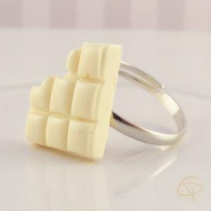bague fille chocolat blanc croqué