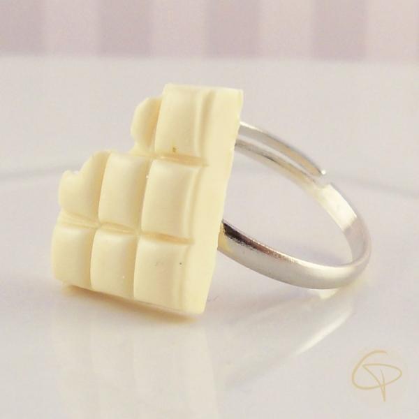 Bagues tablettes de chocolat - bijoux gourmands pour enfant