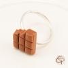 bague fille tablette de chocolat au lait croqué