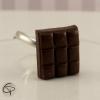 bague enfant fille chocolat noir bijou gourmand