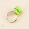 bague macaron vert bijou fantaisie original gourmand pour femme