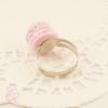 bague macaron rose bijou fantaisie cadeau romantique femme