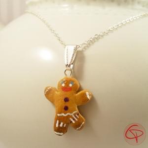 collier original pour Noël avec un petit biscuit en pain d'épices