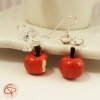 Boucles d'oreilles pommes croquées bijoux gourmands faits main fimo
