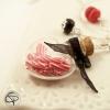 sautoir fiole cœur pour les fêtes sautoir argenté Noël Chat Pristy