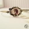 Bracelet délicat femme catrina médaillon anneau bronze halloween