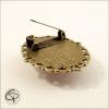 broche vintage couleur bronze avec épingle pour vêtement