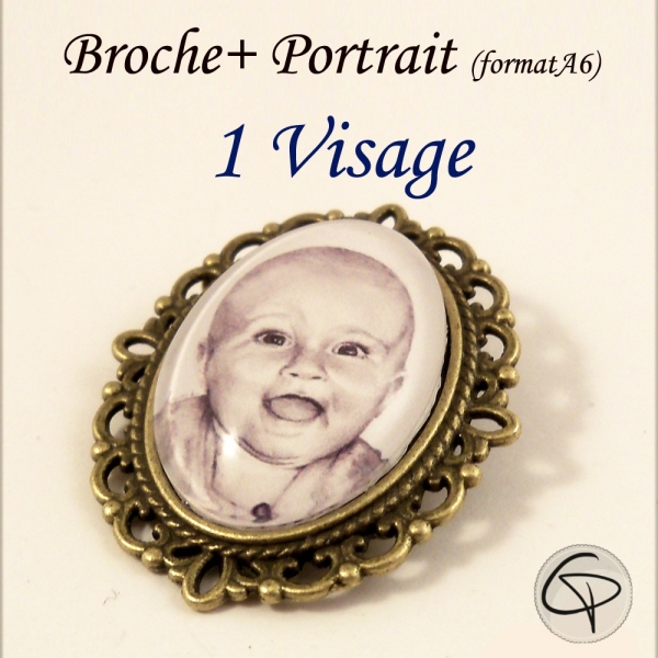 Broche Portrait