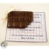 Faire-part de baptême original tablette de chocolat personnalisé