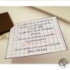 Faire-part de baptême original chocolat personnalisé prénom enfant
