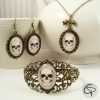 bracelet manchette tête de mort parure bijoux crânes pour femme