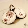 boucles d'oreilles romantique femme dessin fleur pissenlits bijou original fait main