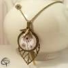sautoir pendentif dessin fleur de pissenlits bijou original fait main
