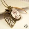 collier sautoir fleur de pissenlits médaillon bijou original fait main