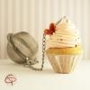 Boule à thé originale contrepoids infuseur à thé cupcake chantilly rose
