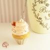 Boule à thé originale contrepoids décoratif infuseur à thé cupcake chantilly rose