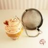 Boule à thé originale contrepoids infuseur à thé tisane cupcake chantilly rose