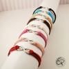 Bracelets pour femme avec symboles infini et couleurs de suédine au choix