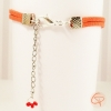 Bracelet féminin avec chaînette ajustable au poignet