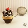 infuseur à thé cupcake chocolat cerise contre-poids original