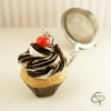 infuseur à thé original cupcake copeaux de chocolat cerise