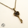 collier bronze chat pristy Ras-du-cou Clef