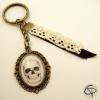 Porte-clef tête de mort dessin crâne halloween porte-clé rock'n'roll