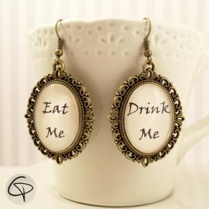 boucles d'oreilles bronze eat me drink me bijoux femme
