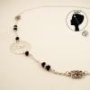 Headband bijou de tête argenté Rosace