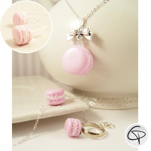 Macarons rose pâle - bijoux gourmands petite fille au choix