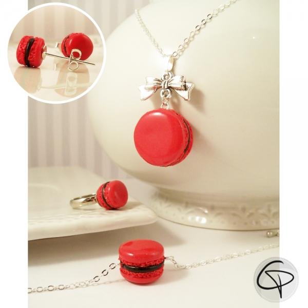 Macarons rouges - bijoux gourmands petite fille au choix